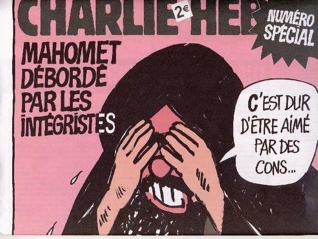 caricature charlie hebdo c'est dur d'être aimé par des cons