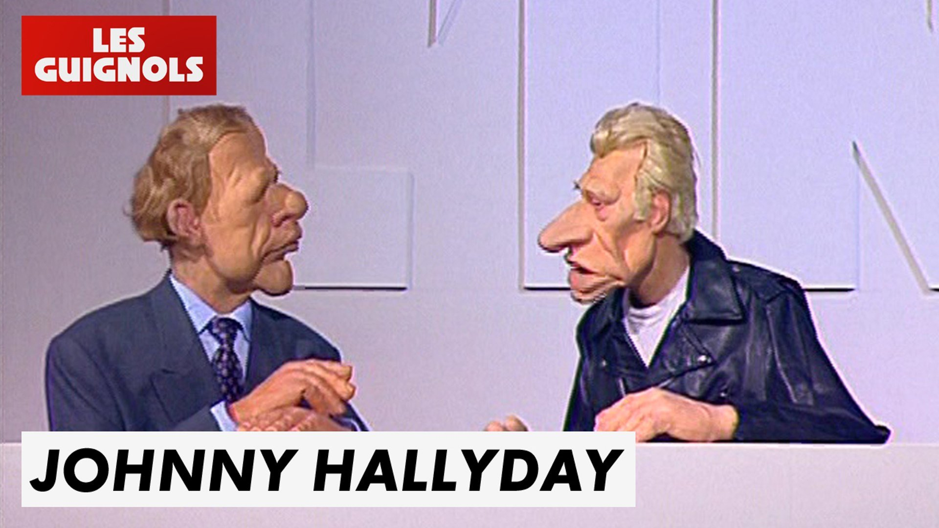 Johnny et PPDA aux Guignols de l'Info